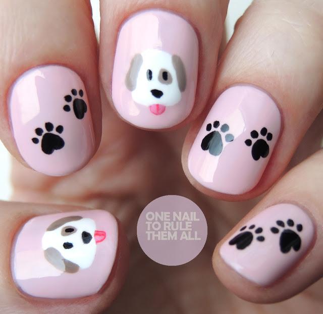 Emoji dogs nails