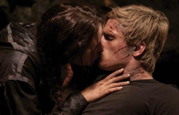 movie kisses Hunger Games