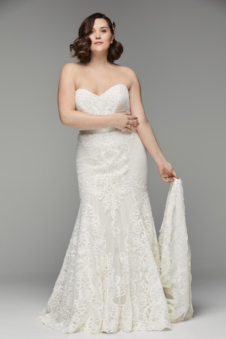 Strapless Fit and Flare Wedding Dress