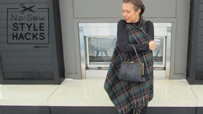 The 10-minute DIY blanket vest