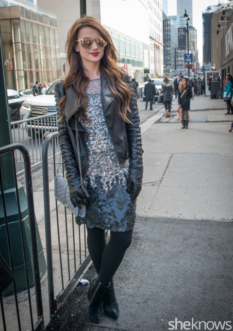 Leather street style outfit