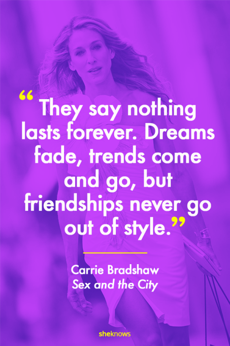 Carrie Bradshaw 'Sex and the City' movie quote
