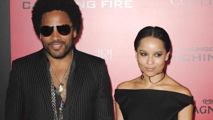 Lenny Kravitz bonds with his only