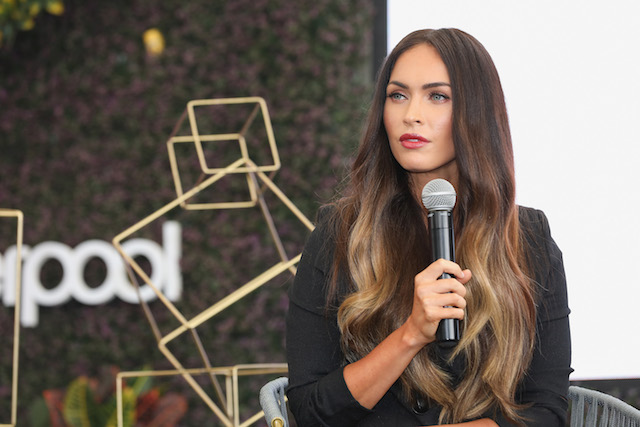 Megan Fox attends a press conference during the Liverpool Fashion Fest Autumn/Winter 2017 at Liverpool Insurgentes