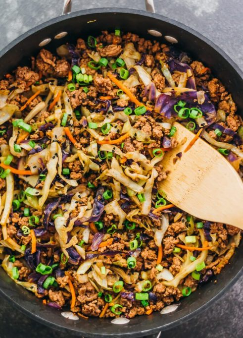 Ground Beef and Cabbage Stir Fry