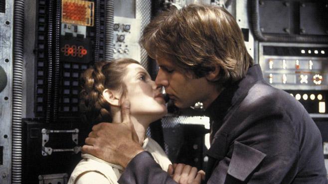 movie kisses The Empire Strikes Back
