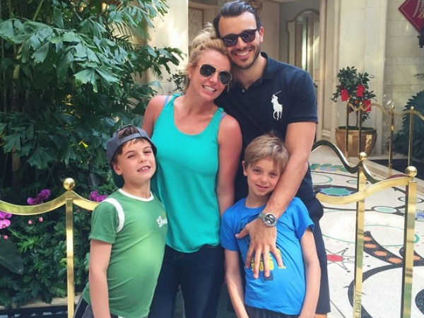 Britney Spears with Sean, Jayden James and Charlie Ebersol