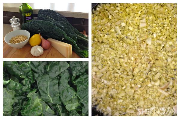 Kale and garlic salad   Sheknows.ca - directions