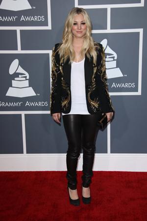 Kaley Cuoco at the Grammys