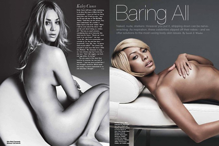 Kaley Cuoco and Keri Hilson naked Allure issue