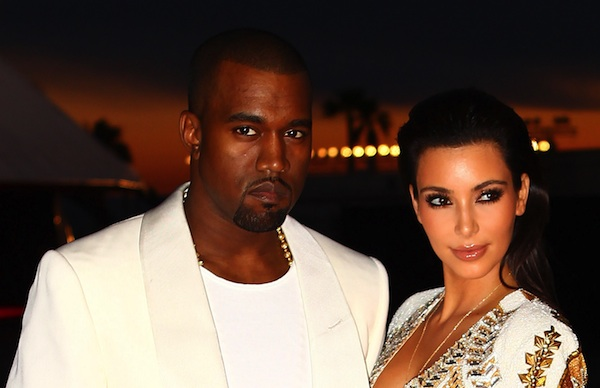 Kanye West and Kim Kardashian in 2012