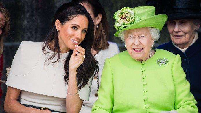Meghan Markle Queen Elizabeth June 2018