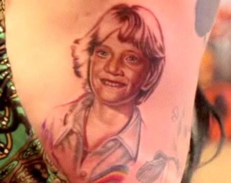 Kat Von D's tattoo of Jesse James