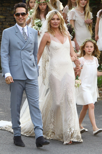 feb598558b2 Kate Moss marries Jamie Hince in John Galliano wedding gown – SheKnows