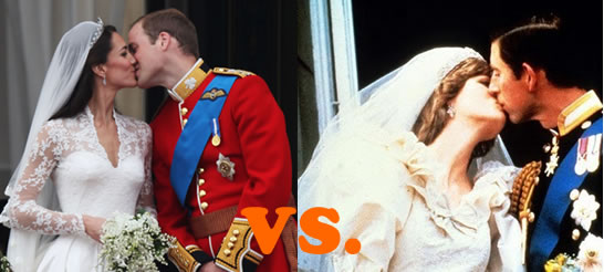 Prince William and Kate vs. Prince Charles and Princess Diana