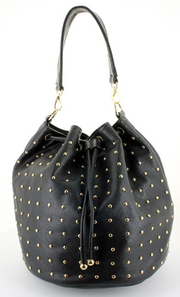 Shop the look: LANY Stud Bucket Bag in Black (lanystyle.com, $42)