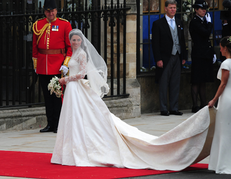 Kate Middleton at the royal wedding