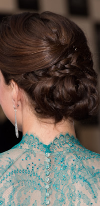 Kate Middleton's braided updo hairstyle at the British Olympics Gala