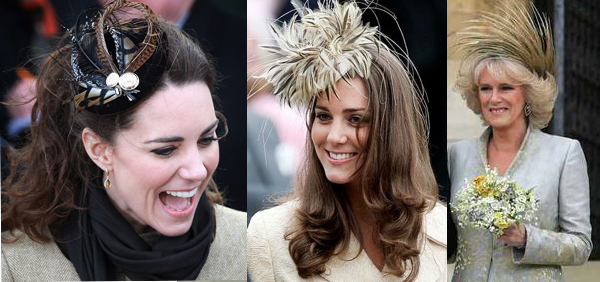 Kate Middleton and Camilla Parker Bowles in Philip Treacy fascinators