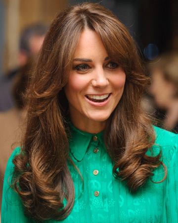 Kate Middleton wearing a green dress
