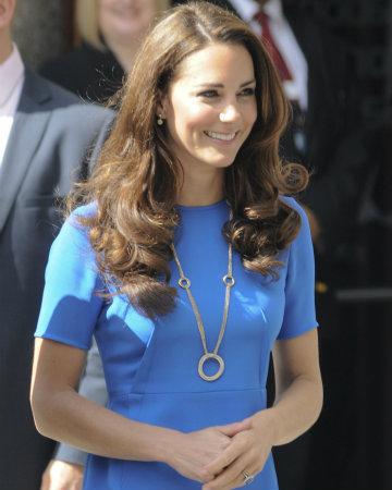 Kate Middleton - Blue dress
