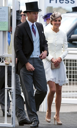 Kate Middleton at a derby race