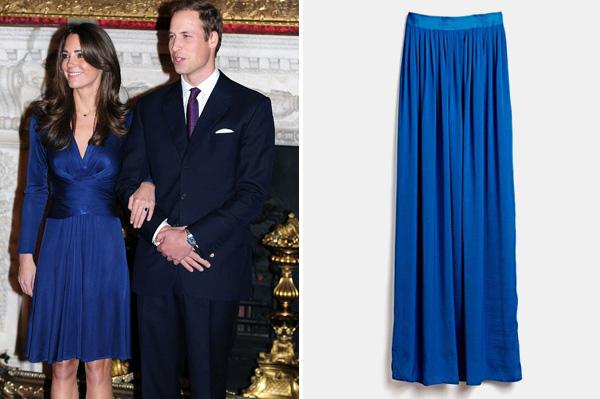 Kate Middleton wearing blue