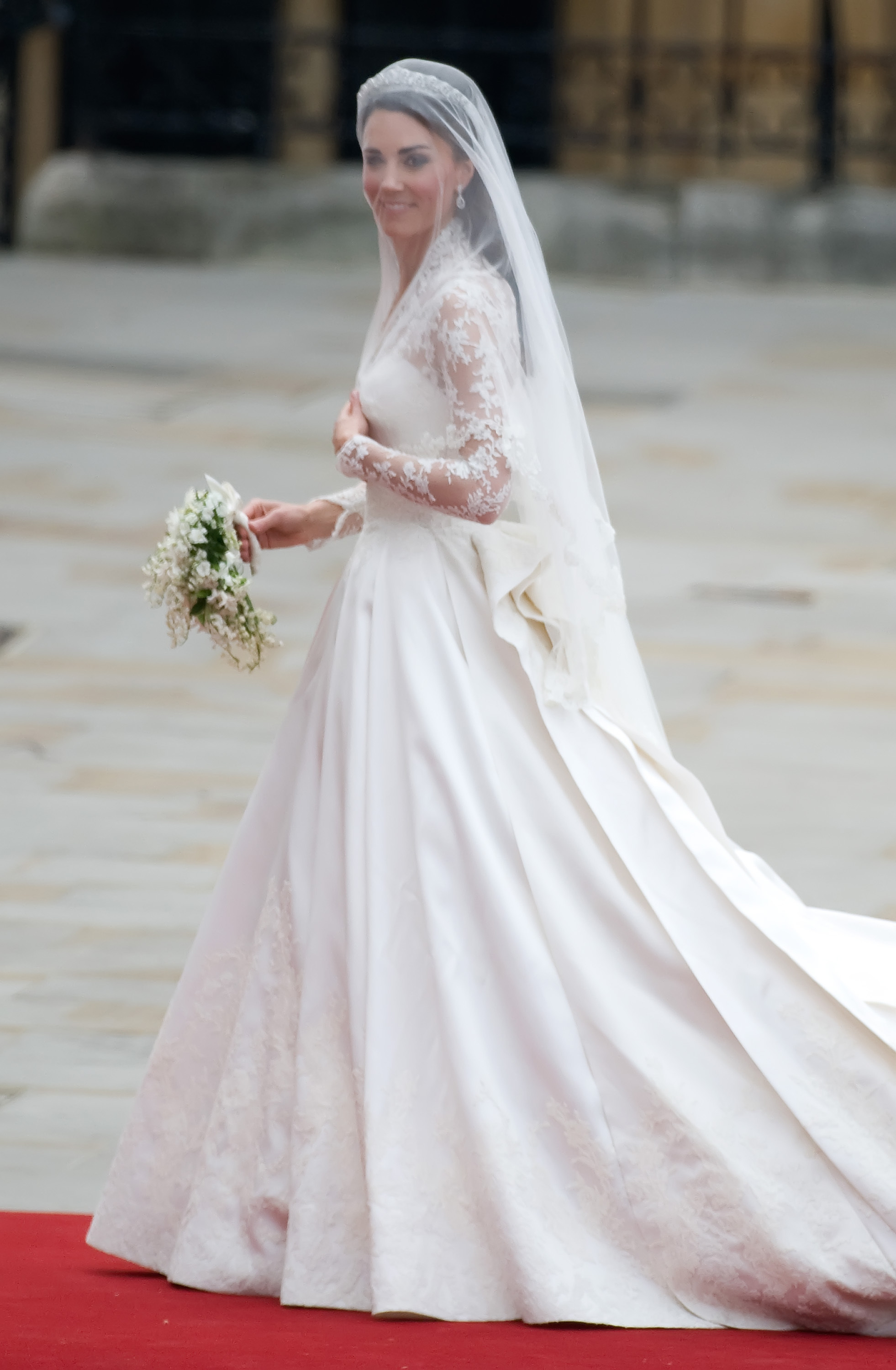 Kate Middleton in her wedding dress