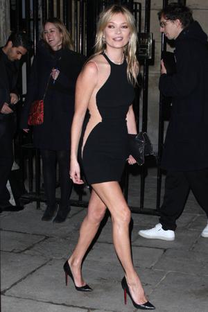 Kate Moss sends four pedestrians to the hospital!