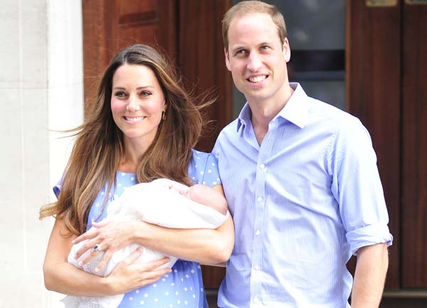Princess Kate and Prince William with royal baby