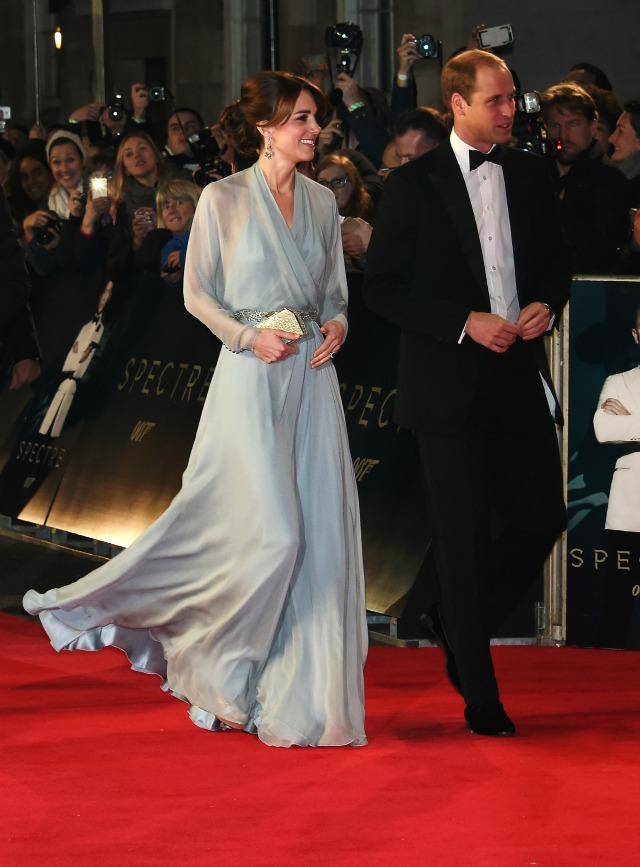 Duke and Duchess of Cambridge at Spectre world premiere