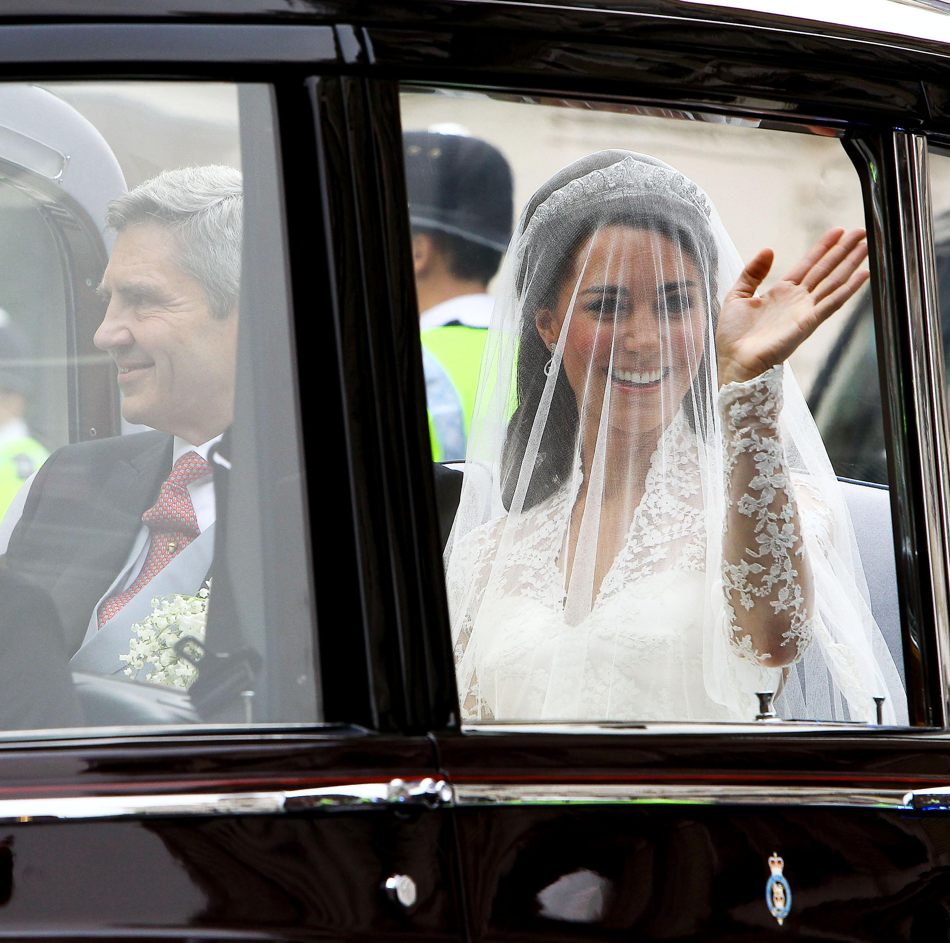 Kate Middleton in royal wedding dress