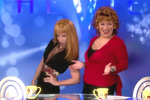 Kathy Griffin and Joy Behar on The View