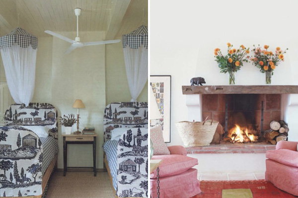 Kathryn Ireland's French home