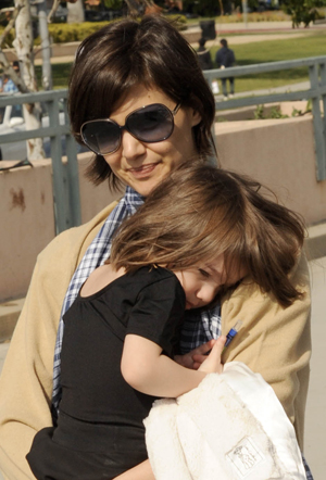 Katie Holmes and Suri Cruise take a walk in Beverly Hills