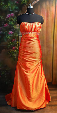 Fire hued taffeta dress from NextEve.com