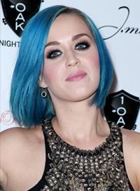 Katy Perry -- Blue hair bob