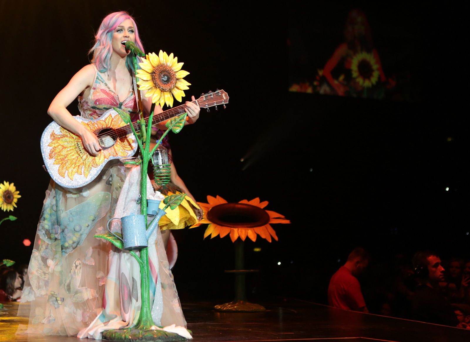 Katy Perry with rainbow strands