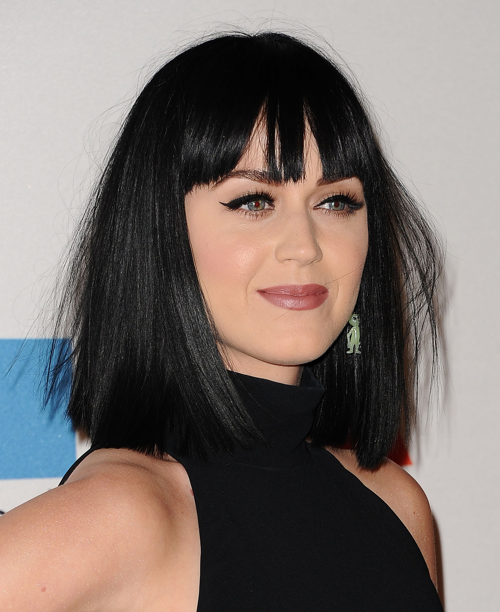Katy Perry with black hair