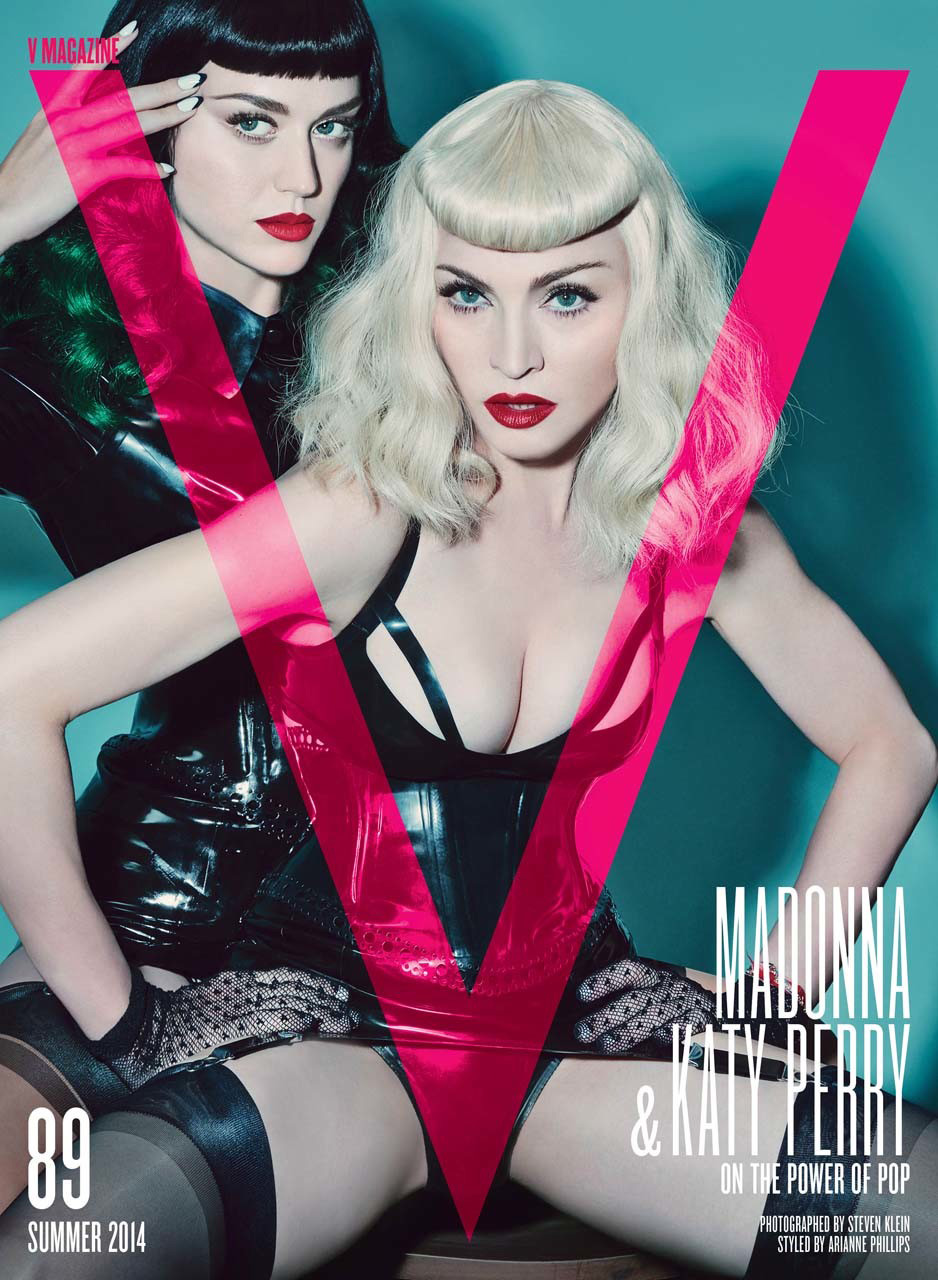Katy Perry and Madonna ins June 2014 V Magazine