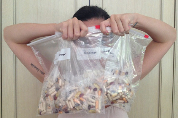 Katy Perry and her vitamins