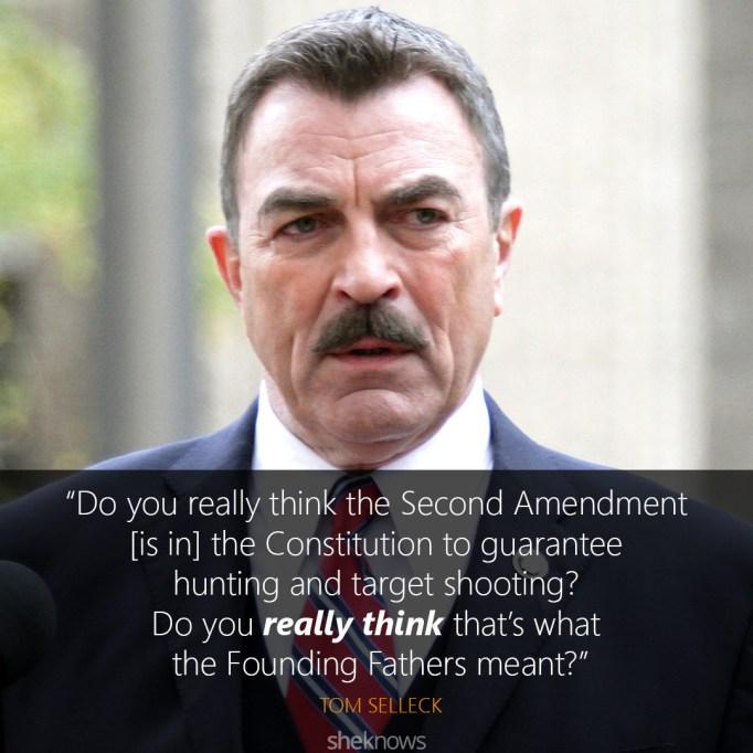 tom selleck gun control