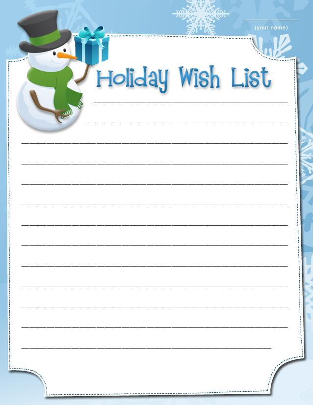 picture relating to Wish List Printable called Printable Family vacation need lists SheKnows