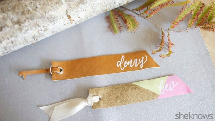 DIY leather bookmarks that double as