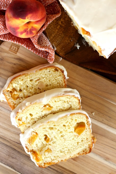 Summer Peach Recipes: Peaches and cream bread is an essential part of any summer breakfast.
