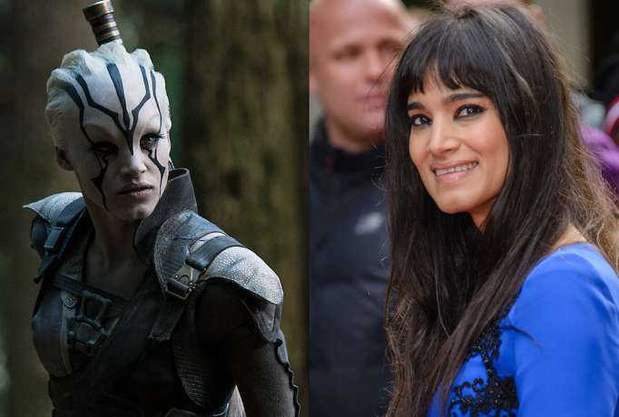 Jaylah from Star Trek Beyond and Sofia Boutella without her costume