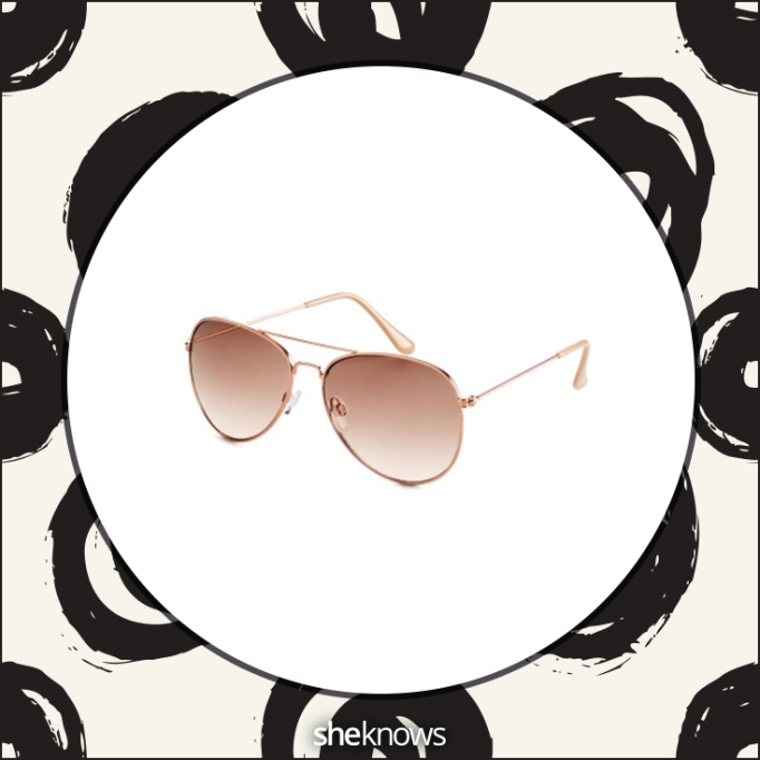 Rose gold-colored sunglasses at H&M
