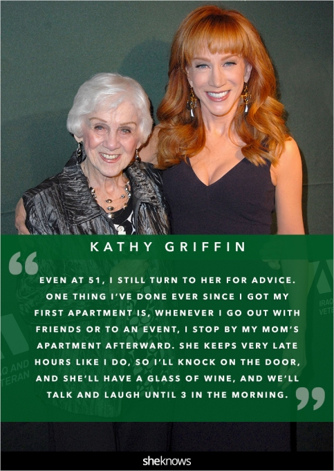 Kathy Griffin and her mom