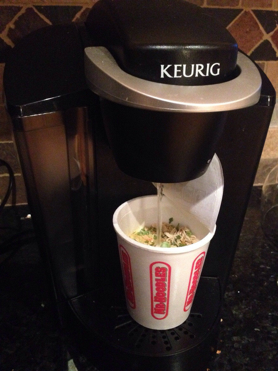 keurig coffee pot ramen