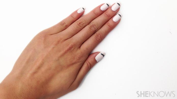 The most adorable mustache nails you'll